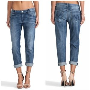 MOTHER THE DROP OUT IN HOOKED BOYFRIEND JEANS 25